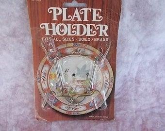 Vintage  Brass Plate Holder