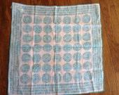 Vera Vintage Mint scarf aqua pattern