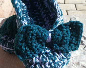 Ladies Slippers......in Pretty Teal and Light Blue, YOUR size...