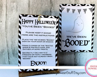 Halloween Boo Kit, DIY, Printable, INSTANT DOWNLOAD