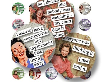 Fabulous Fifties Quotes 1 Inch Circle Digital Downloads Scrabble Tiles Digital Collage Sheet Images Words Sayings Typography