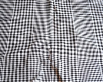 Vintage Fabric - Black and White Sheer Plaid - By the Yard