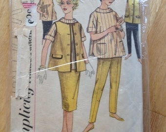Vintage 50s Simplicity 3309 Maternity Skirt, Pants, Blouse and Jacket