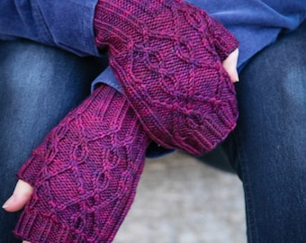 Birthstones: fingerless mitts PDF pattern