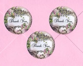 Sticker Seals, Roses, Thank you Stickers, Roses Stickers