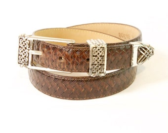 Vintage brown Brighton Leather Belt size small
