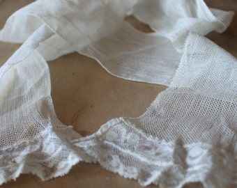 Victorian Lace Lappet Wedding Scarf
