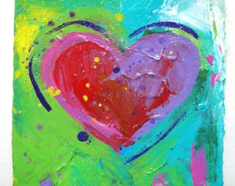 Abstract Splatter Heart... Perfect for Valentines Day! FREE SHIPPING