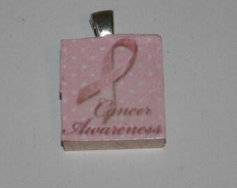 Breast Cancer Awareness Scrabble Tile Pendant #4