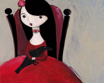 Born Again Gothic Girl Art Print