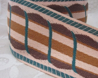 2m Brown and Green Woven Vintage Tape