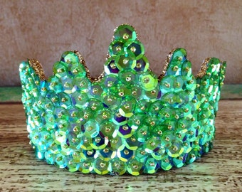 Custom Made Tinkerbell  Tiara in Irridescent Lime