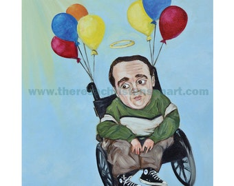 """11""""x14"""" Eric The Actor Print to help benefit Shriners CH featured on Howard Stern Show website"""