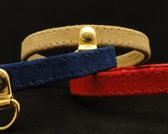 Suede Cat Collar with Breakaway Buckle by Ruggit Collars