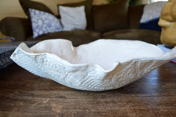 Ceramic White Serving Bowl - Dinnerware Serving Bowl wedding gift -Tableware salad Bowl