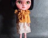 Ruffle Cardigan in Goldenrod