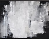 Overshadow - 40 x 30 - Abstract Acrylic Painting - Huge Contemporary Wall ARt - Modern - Black Gray White