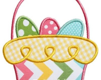 591 Loopy Easter Basket  Machine Embroidery Applique Design