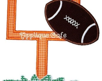 159 Football Goal Machine Embroidery Applique Design