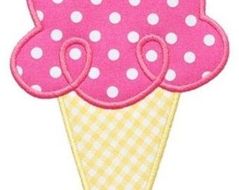 443 Ice Cream Cone 2 Machine Embroidery Applique Design