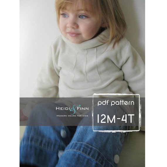Pintuck Sweater Tunic pattern and tutorial 12M-4T EASY SEW epattern