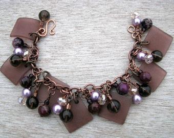 Dusk, Purple Charm Bracelet
