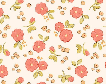 STORE Closing Sale- Calliope Floral in Pink from RIley Blake Fabrics  1 yard