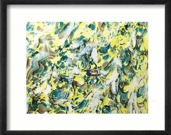 """hand marbled canvas, toile marbrè , tela màrmolada, tela  marmorizzata - 21,6"""" x 21,6""""  -  cm 54 x 54  -    2534"""