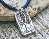 Tree of Life Lapis and Leather by Katherine Sheetz