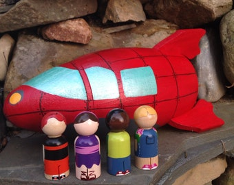 the tv collection - little einsteins-inspired rocket & peg doll set