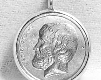 Aristotle Greece Coin Pendant (E-855)