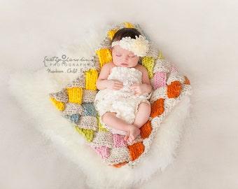 Weave Blanket Newborn Photo Prop