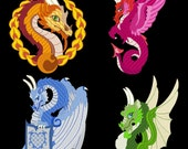 DRAGONS REIGN-- 30 Machine Embroidery Design Pack (AzEB)