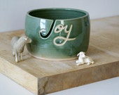 Made To Order - Your name on a hand thrown pottery yarn bowl glazed in your choice of colour
