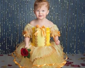Belle inspired dress tutu 4t