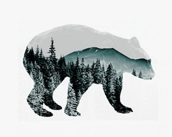 contemporary decor: spirit bear. limited edition DIY giclee print