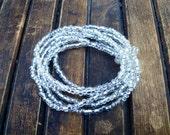 Multi strand bracelet. Clear