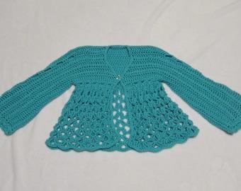 Beautiful Light Turquoise Aqua Sweater Topper size  7 8