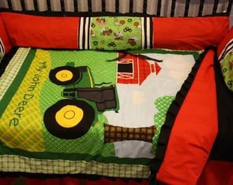 John deere tractor crib bedding