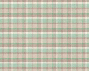 Outback Teal Plaid Cotton Fabric  6196-11