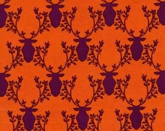 SALE - Michael Miller - Rustique Collection by Emily Herrick - Trophy in Orange - Fat Quarter