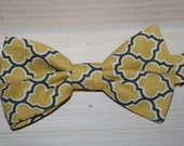 Little boys bow tie aviary in mustard yellow and gray,  matching pillowcase dress available, brother sister outfit, photo prop
