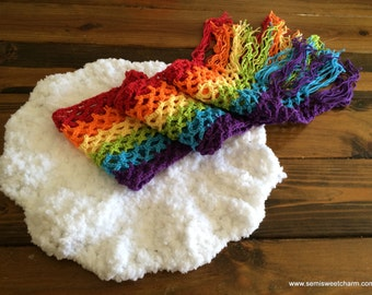 rainbow baby and newborn toddler photo prop pdf crochet digital download pattern cloud baby hammock photo prop crochet digital download pattern pdf  rh   etsy