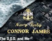 Reserved Navy Blanket Listing for Michelle