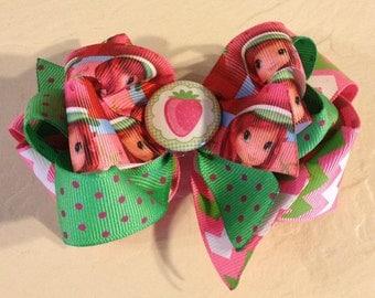 Strawberry Shortcake Boutique Hair Bow