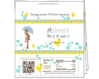 10 - Baby Shower candy wrappers/Candy Wrappers/Hershey Candy Bar Wrappers/Shower Wrappers/Chocolate Bar Wrappers