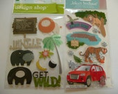 JUNGLE Animals SAFARI MM Jolee's Scrapbooking 3d Supplies Stickers - Lion, Hippo,  Monkey, Tiger