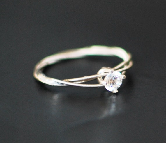 guitar string engagement ring purity ring promise ring. Black Bedroom Furniture Sets. Home Design Ideas