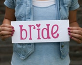 BRIDE lowercase Iron-on Letters Pick Your Color