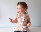 Dot Dress/Tunic - Size 18mo/2t /3t - Made to order